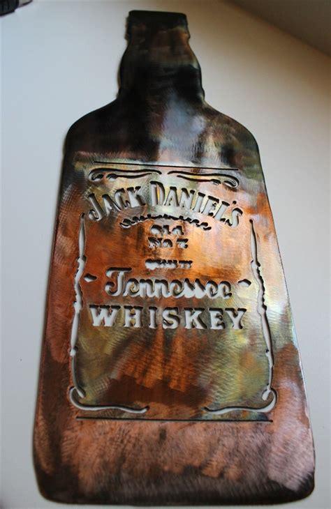jack daniels bottle metal wall art decor copperbronze