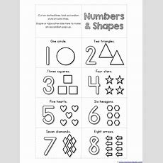 Numbers 110 And Shapes Mini Accordion Coloring Book Printable {free}  Teaching  Prek Math