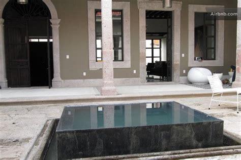 central patio  infinity edge fountain fuentes