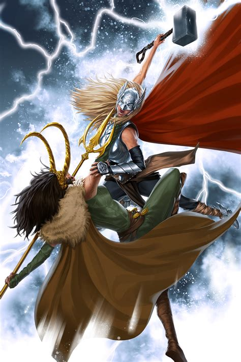 Epic Fem Thor Vs Fem Loki Fan Art Gen Discussion