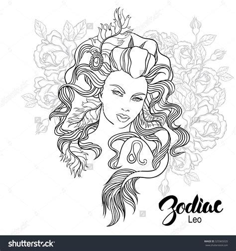zodiac leo girl coloring page shutterstock
