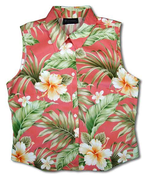 hawaiian print blouses bloom 39 s hawaiian print sleeveless blouse