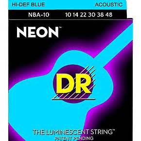 DR Strings Hi Def NEON Blue Coated Lite Acoustic Guitar