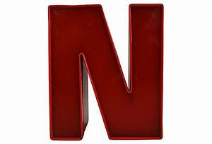 Vintage Lucite Sign Letter N Omero Home