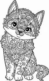 Mandala Coloring Cat Adult Puppy Pages Kitten Mandalas Adults Animal Para Pdf Pintar Zen Cats Dog Wecoloringpage Printable Animals Colorear sketch template