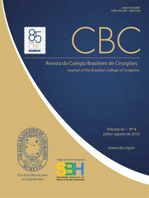 revista colegio brasileiro de cirurgioes vol
