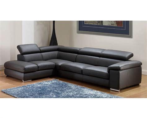 modern leather sectional modern leather sectional sofa set in grey finish 33ls131