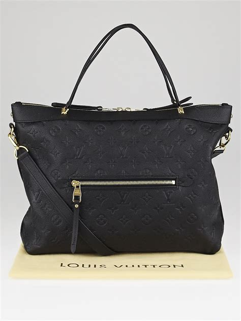 louis vuitton black monogram empreinte leather bastille mm