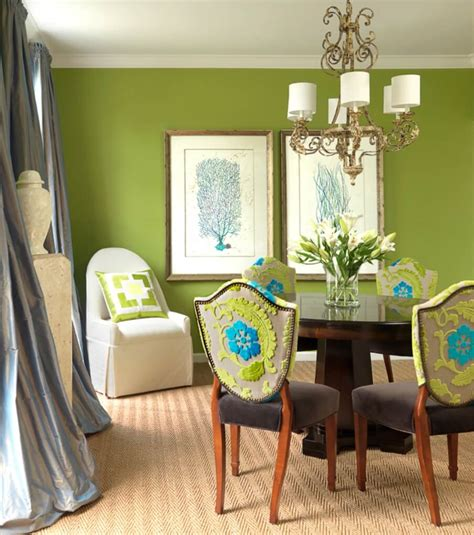 fresh green dining room interior design ideas https