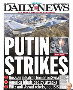 An early look at tomorrow's front page… putin strikes ...