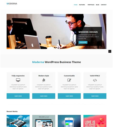 bootstrap template  corporate moderna