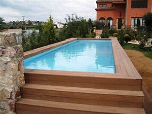 Piscine Enterrée Rectangulaire : la piscine en bois rectangulaire espace de d tente et d co pour l 39 ext rieur ~ Farleysfitness.com Idées de Décoration