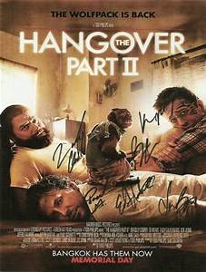 The Hangover 2 Autograph Signed Movie Poster | Company ...