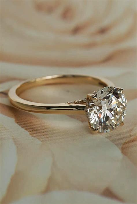 27 simple engagement rings for who love classic oh so