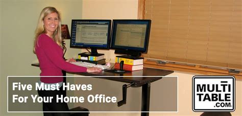 Office Desk Must Haves by Five Must Haves For Your Home Office Multitable Standing