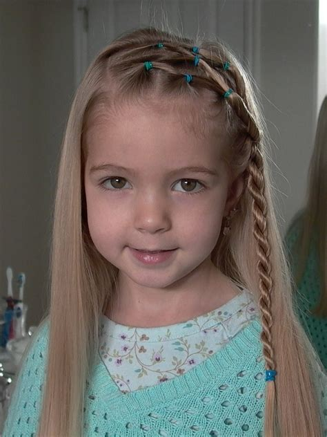 little girl s hairstyles side puffy braid with twist