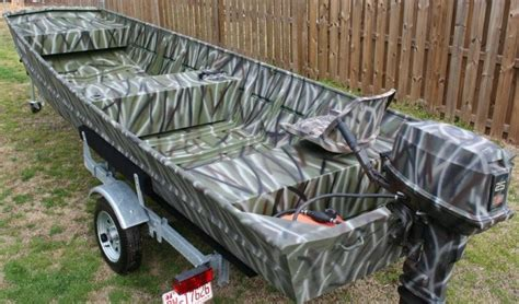 Camo Boat by Camouflage 16 Jon Boat Motor And Trailer The Hull
