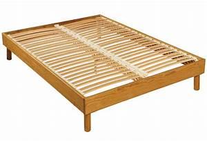 Lit Maison Bois : sommier et cadre de lit ~ Premium-room.com Idées de Décoration