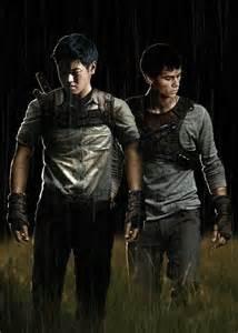 Thomas and Minho Maze Runner