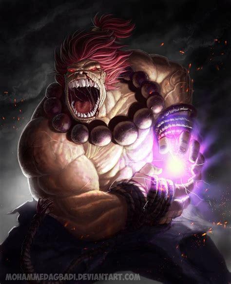 Akuma Zanku Hadouken By ~mohammedagbadi Street Fighter