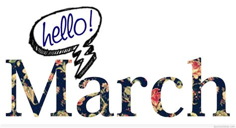 Wallpapers Hello March