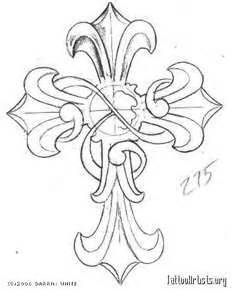Cross tattoo with flowers and butterflies | Tattoos | Pinterest | Tattoo, Butterfly and Rosary beads