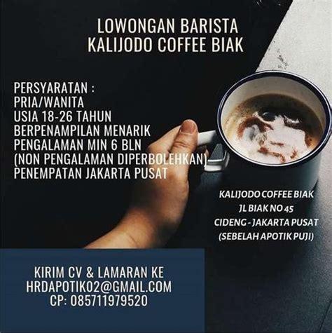 25 tahun tinggi badan : Lowongan Kerja Barista di Kalijodo Biak Coffee - Indah Pratiwi di Gambir, Jakarta Pusat, 11 Dec ...