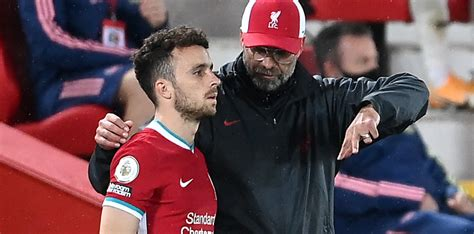 Jurgen klopp has confirmed diogo jota is wearing a brace and still some way from returning to action after his knee injury but says there's a chance joel matip could feature in liverpool's upcoming crunch match with manchester united. Klopp: Jota excelling on only 20 per cent knowledge ...