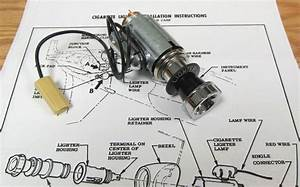 1957 Chevy Cigarette Lighter Assembly With Light Option