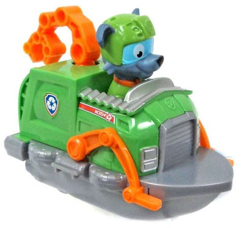 Paw Patrol Rocky Boat by Paw Patrol Racer Rocky In Recycle Boat Figure Figure Does