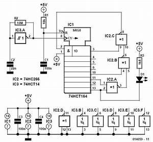 Random Flashing Led Schematic Circuit Diagram