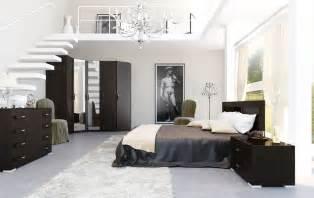 home interiors bedroom 4 black and white brown bedroom mezzanine interior design ideas