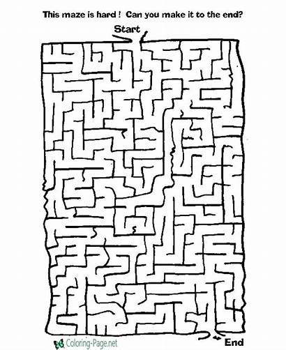 Printable Games Activities Maze Coloring Pages Kid