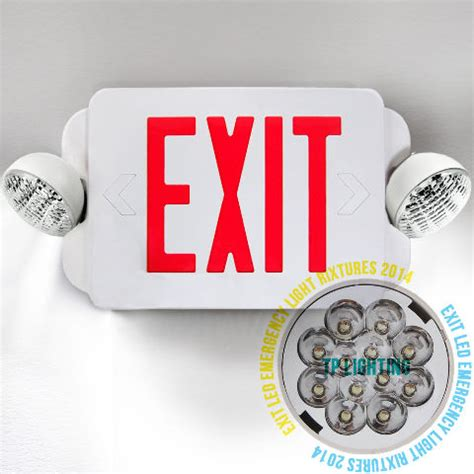 led exit sign emergency light high output