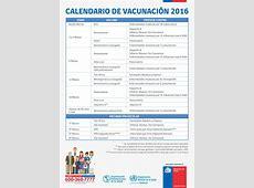 Calendario de Vacunación 2016 Salud Las Cabras