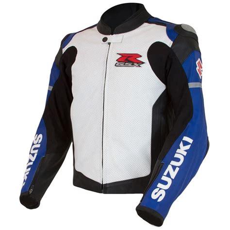 Suzuki Gsxr Jacket by Gsx R Leather Jacket Blue White Cheap Cycle Parts