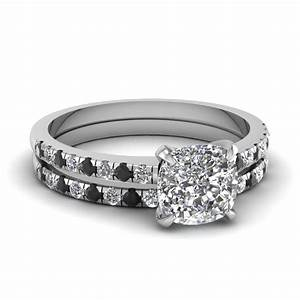 Black And White Diamond Engagement Ring Sets Diamondstud
