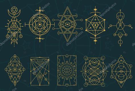 Abstract Sacred Geometry and Magic Symbols Set 4 — Stock