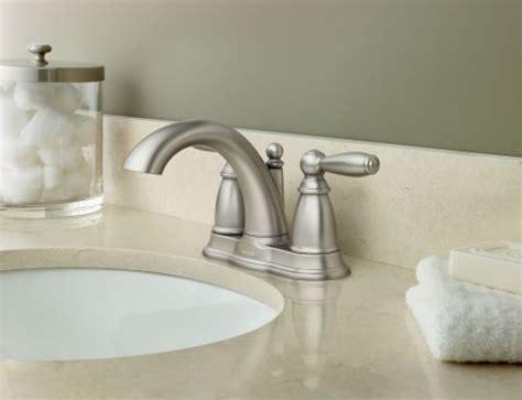 brantford brushed nickel  handle high arc bathroom faucet bn moen