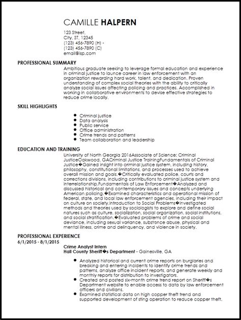 Entry Level Officer Resume by Free Entry Level Enforcement Resume Template Resume Now