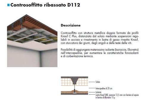 controsoffitto sezione realizzazione di soffitti in cartongesso tipi e materiali