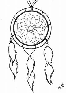 outline simple dreamcatcher tattoo design With dream catcher tattoo template