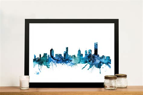 wall decor melbourne buy melbourne skyline watercolour wall upwey melbourne