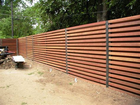 Modern Wood Fence Horizontal