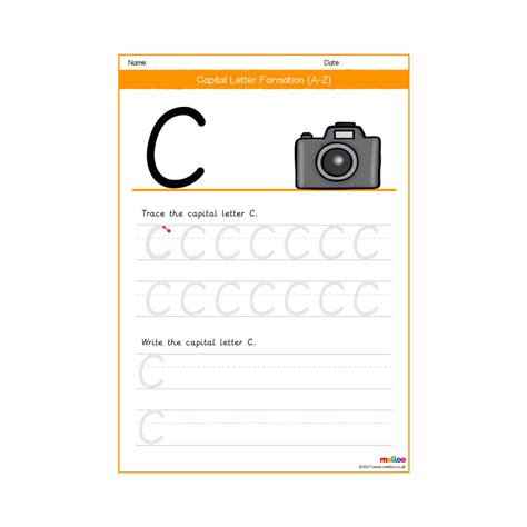 capital letter formation eyfs ks worksheets