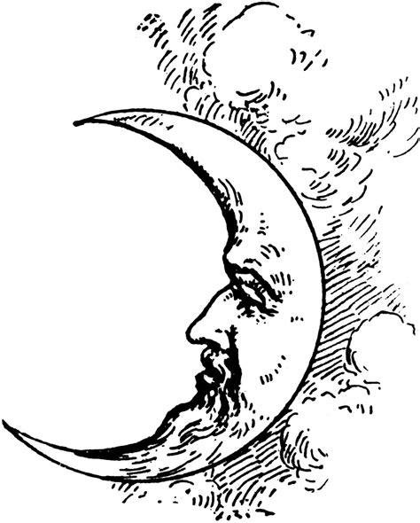 crescent moon clipart