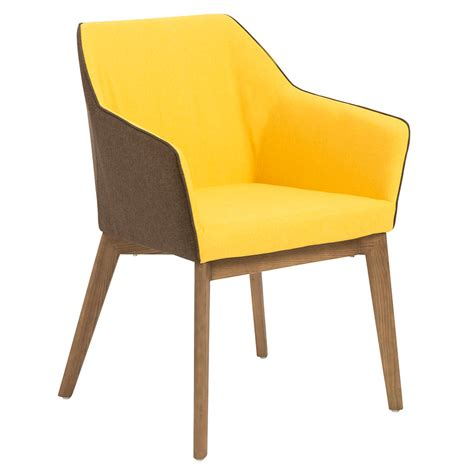 modern yellow dining arm chair eurway modern