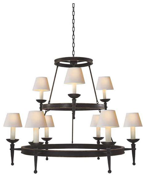 Two Tier Chandelier by Dorset Two Tier Chandelier With Torch Arm Chandeliers