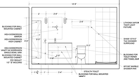 Shower Niche Height by Bathroom Elevations Urban Home Indy