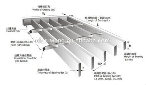 Stainless Steel Grating Standard Weight  anping Medium